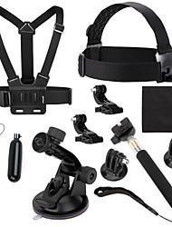 Accessoires pour GoPro,Monopied Trépied Vis Buoy Grande Fixation Ventouse Caméra Sportive Avec Bretelles Fixation Tout en un Pratique,