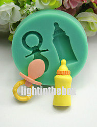Nipple Feeding Milk Bottle DIY Silicone Chocolate Pudding Sugar Ice Cake Mold Color Random