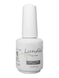 Lundle Soak Off UV Nail Gel Polish Top Coat Gel LED Manicure Gel