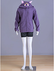 Inspirado por Sailor Moon Sailor Moon Animé Disfraces de cosplay sudaderas Cosplay Estampado Morado Manga Larga Abrigo