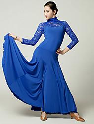 Vestidos ( Preto / Azul / Fúcsia / Vermelho , Renda / Viscose , Dança Moderna ) - de Dança Moderna - Mulheres
