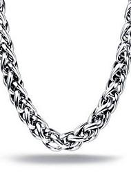 Муж. Ожерелья-цепочки Цепочка Нержавеющая сталь Бижутерия Уникальный дизайн Мода Серебряный 3 # 4 # 5 # 6 # Бижутерия Новогодние подарки