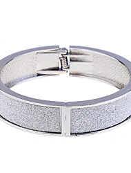 European Style 1.5Cm Glossy Alloy With Glitter Bangle