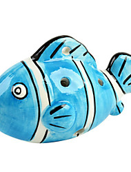 The Blue Fish Six Hole Ocarina C Shape
