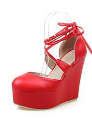 Women's Shoes Wedge Heel Heels / Round Toe Heels Dress Black / Red / White