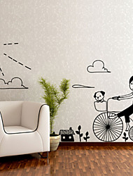 Bicycle Girl Wall Stickers
