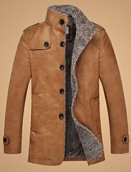 SANBOER Men in the winter with velvet thickening long collar fur leather jacket