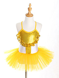kids dance costumes Ballet Tutus & Skirts / Dresses / Tutus Children's Performance / Training Spandex / Tulle Paillettes