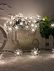 roi ro solaire 26.24ft 60LED lotus fantaisie fête de mariage lumière de décoration de plein air chaîne de lumières imperméables