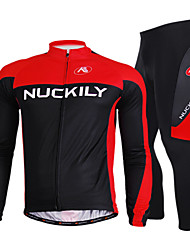 NUCKILY Bike/Cycling Jersey + Pants/Jersey+Tights / Clothing Sets/Suits Women's / Men's Long SleeveBreathable / Quick Dry / Anatomic