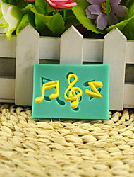 Music Note DIY Silicone Chocolate Pudding Sugar Cake Mold Color Random