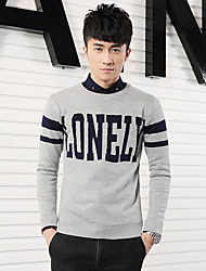 2015 Japanese Korean new autumn and winter - slim man knit Pullover men playing baseline clothing tide