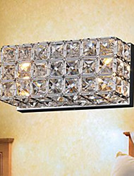 Contracted And Contemporary Square Wall Lamp B-29 K9 Crystal
