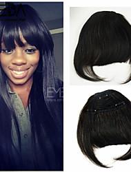 novas franjas de cabelo da moda 1pc 30g bate 100% real grampos de cabelo humano de Remy em extensões retas 2 cores disponíveis