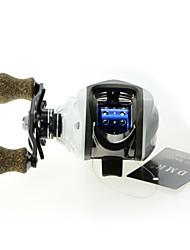 DMK DM120LF-X 14 Bearing Baitcast Fishing Reel Gear Ratio 7.0:1 Max Drag 5kg Left Handle Centrifugal Brake Carbon Body