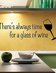 New Pattern A Glass Of Wine Removable Waterproof Wall Sticker Home Decor Vinyl Wall Decal