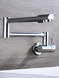 HPB® Wall Mounted Single Handle One Hole with Chrome Kitchen faucet