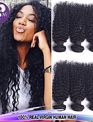 """3 pcs Lote 8 """"-30"""" malaio cor do cabelo virgem # 1B onda natural brasileiro feixes de cabelo humano cacheados"""