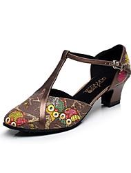 Женская обувь - Кожа - Номера Настраиваемый ( Коричневый ) - Латино