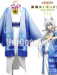 Inspiré par Cosplay Cosplay Anime Costumes de cosplay Costumes Cosplay Bleu Manche LonguesVeste Kimono / Chemise / Corset / Plus