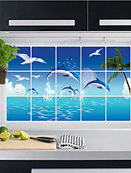 Aluminum Foil Kitchen Oil Proof Wall Stickers