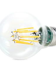 8W E26/E27 Lâmpada Redonda LED A60(A19) 8 COB 1450 lm Branco Quente / Branco Natural Decorativa AC 220-240 / AC 110-130 V 1 pç