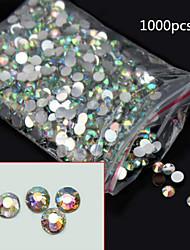 1000PCS  AB Flat Diamond Nail Jewelry