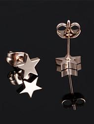 Ms Stainless Steel Not Faded Pentagram Earrings