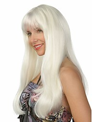 Fashion Lady Long White Color Beautiful Wigs