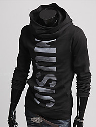 Men's Long Sleeve Hoodie & Sweatshirt , Polyester Print