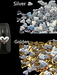 100pcs Heart-Shaped Nail DIY Jewelry Nail Rivets