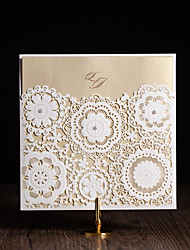 Personalized Folded Wedding Invitations Invitation Cards-50 Piece/Set Floral Style Art Paper Flowers