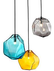 luz conduzida g9 220v 18x18cm pingente de diamante criativo cristal de gelo personalidade vidro da lâmpada droplight cromática