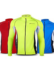 NUCKILY Perspiration Wicking Long-Sleeved Jersey Shirt Breathable Bike Night Reflective Men And Equipment Customization