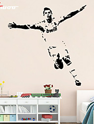 AWOO® New Pattern Football Cristiano Ronaldo Wall Stickers Home Decor Vinyl Stickers For Kids Room Decoration