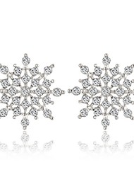 European Style Clean Snow Flower Stud Earring