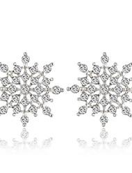 European Style Clean Snow Flower Stud Earring