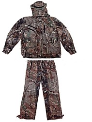 Ourdoor Camouflage Suits , Waterproof Winter Fleece Camo Jacket Suits for Hunting Fishing(Jacket+Suspender Trousers)