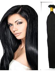 """1pc / lot 18 """"1 g / s Maxime Volumen brasilianisches reines Haar remy geraden Nagel / U Spitze Haar Extensiones de Cabello superior"""