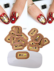 - Finger - 3D Nails Nagelaufkleber - Andere - 3pcs ( White/Blue/Red each color 1pcs) Stück - 1.1cmX0.7cm each piece cm