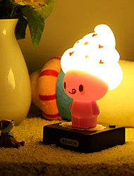 Creative Personality Led Cap Lovely Place Plug With Switch Battery A Night Light Lamp LED