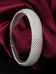 """Classic Noble 925 Sterling Silver """"Woven""""Bangles Party Daily Bangles For Woman&Lady"""