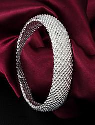 Femme Bracelets Rigides bijoux de fantaisie Argent sterling Bijoux Pour Mariage Soirée Quotidien Décontracté
