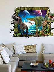 3D Wall Stickers Wall Decals, Dinosaur World PVC Wall Stickers