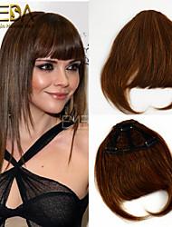 sans soudure invisible bang mode réel frange de cheveux humains clip dans une frange franges de cheveux Rémi brésiliens 30g de cheveux /