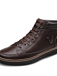 Men's Shoes Outdoor Leather Boots Black / Brown