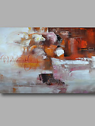 "Ready to hang Stretched Hand-Painted Oil Painting 36""x24"" on Canvas Wall Art Abstract Contempory White Brown"