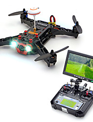 Eachine Racer 250 with I6 Transmitter Receiver and 7 Inch Monitor 6CH 6 Axis 2.4G Black Drones