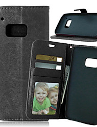Luxury PU Leather Card Holder Wallet Stand Flip Cover With Photo Frame Case For HTC One M8/M9 (Assorted Colors)