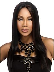 capless longue des femmes élégantes naturel sain fille d'onde de cheveux bouclés perruques noires
